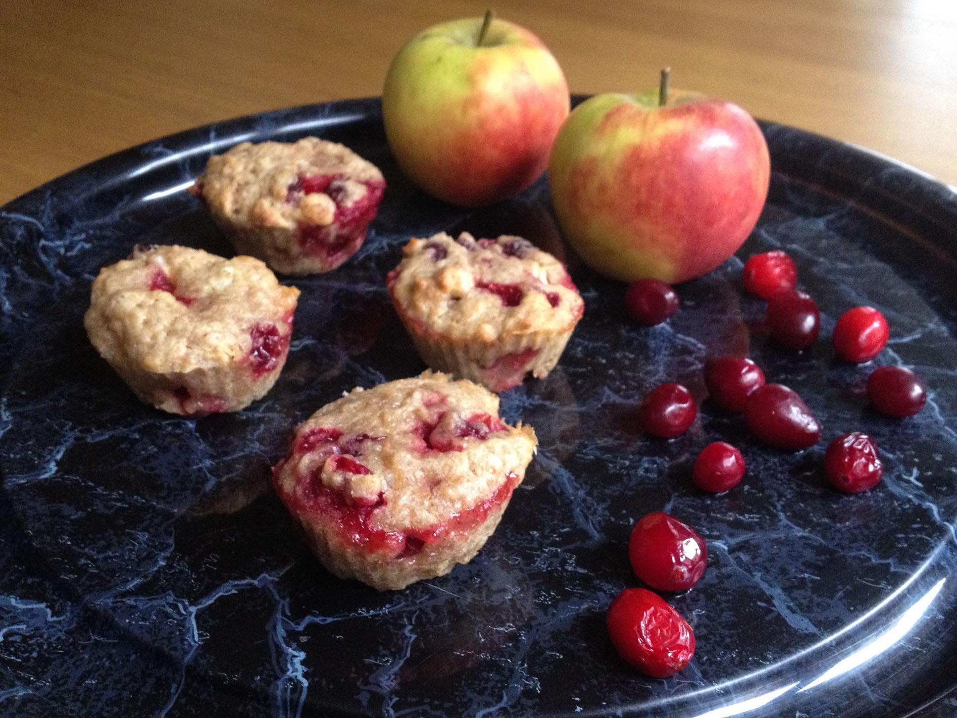 Muffins met veenbes en appel | Julienne