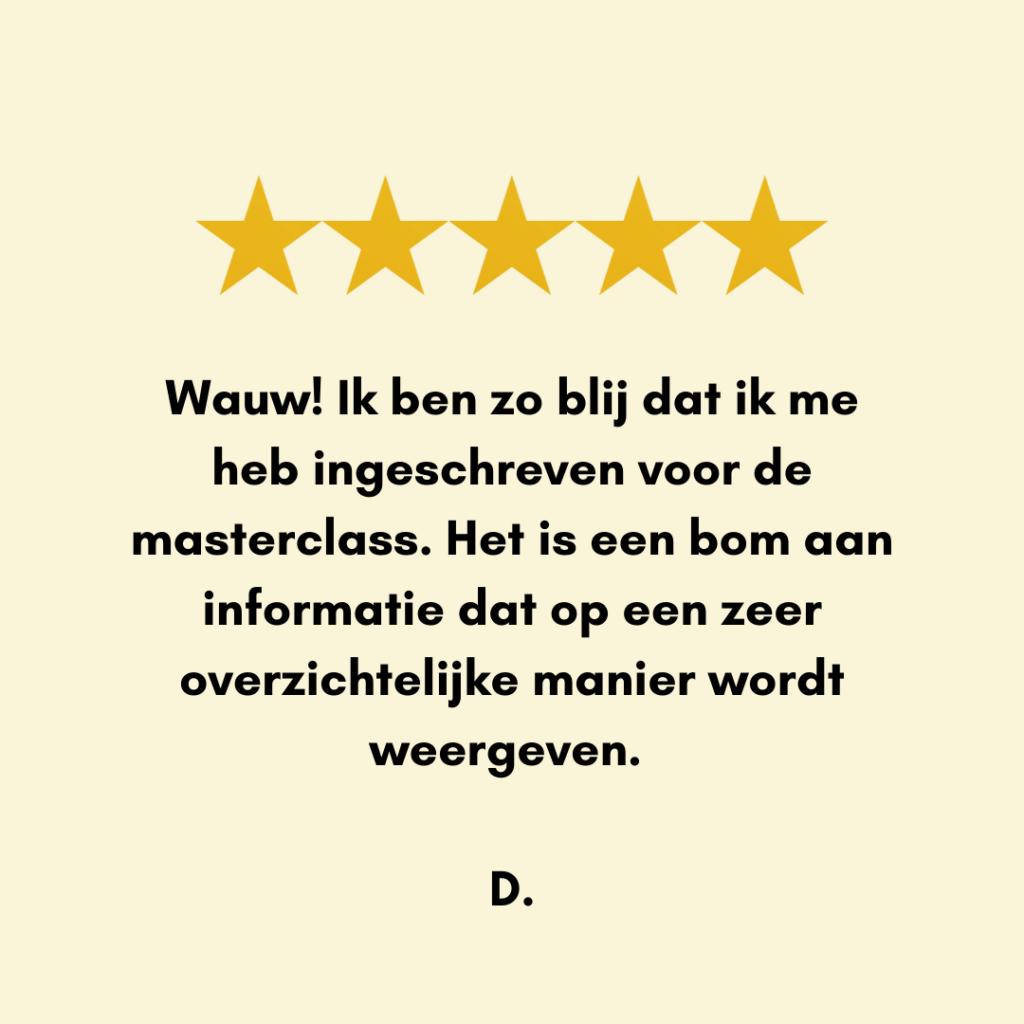 Review - Silke Desaever - diëtiste & lactatiekundige - Kortrijk en online